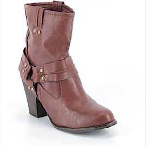 Olsenboye Studded Stacked Heel Ankle Boot,  11